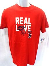 Boston Red Sox MLB Baseball Real Love Red Ladies Short Sleeve Shirt NEW