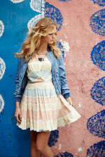NEW Anthropologie Watercolor Mirage Dress By Paper Crown Size Medium M