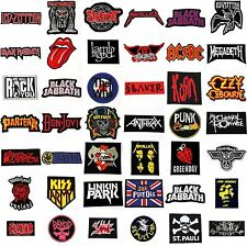 MUSIC LOGO JACKET T-SHIRT BAG THRASH HEAVY METAL PUNK HARD ROCK IRON ON PATCHES