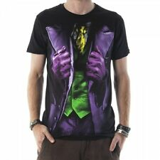DC Comics Batman The Dark Knight Joker Distressed Men's Costume T-Shirt