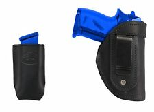 New Barsony Black Leather IWB Holster + Mag Pouch SIG Walther 380 Ultra Compact