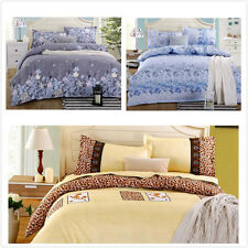 2014 New Crushedvelour Queen 1.8 m Bed Bedding Flat Sheet Quilt Cover Pillowcase