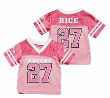 NFL Football Baltimore Ravens Ray Rice #27 Infant Girls Jersey - Pink