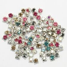 Wholesale 200pcs Glass Crystal Metal  Beads Cloth Shoes Embellishments Findings