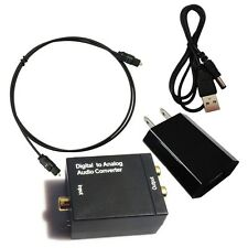 Digital Optic Coaxial RCA Toslink Signal to Analog Audio Converter Adapter 20157