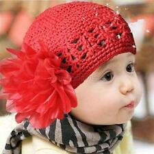 Fashion Cute Baby Boy/Girl/Toddler Flower Knit Crochet Hat Beanie Handmade Cap