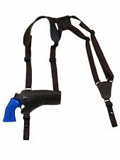 """NEW Barsony Brown Leather Horizontal Shoulder Holster Rossi Navy Arm 4"""" Revolver"""