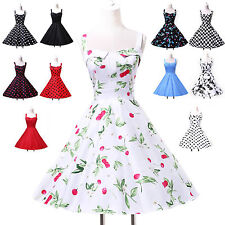 Sexy Summer Short 50's Rockabilly Retro Swing Pinup Evening Party Vintage Dress