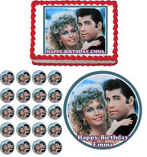 GREASE Edible Cake Topper Cupcake Image Birthday Decoration
