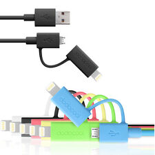 Lighting Cable + Micro USB to USB 2.0 - for iPhone 5s 5 Samsung LG Tablet Mobile