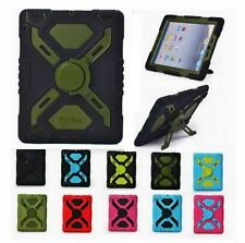 Pepkoo Defender Shock/Dirt/Water Proof Stand Case Cover For iPad 2 3 4/Air/mini