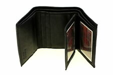 Mens Wallet Trifold Genuine Leather Flap Out 2 IDs Tall Series Cowhide New