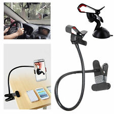EEEKit for Phone,Lazy Bed Desktop Clip Clamp Car Mount Holder+Suction Cup Mount