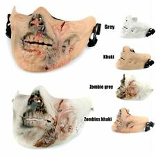 Cosplay Airsoft Paintball Strike Protection Gear Military Zombie Half Face Mask