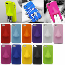 Funny 3D Nose Soft Silicone Rubber Case Skin Cover for Apple iPhone 5 5S 5th 5G