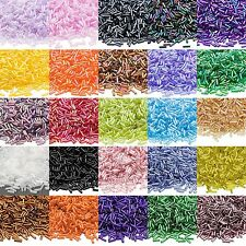 Lot of 500 Ming Tree Economical 1/4 inch Long 6mm Glass Bugle Tube Seed Beads