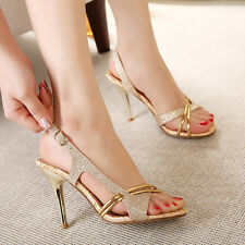 Womens Shoes platform party shoes High Heels Sandals Stiletto Gold wedding shoes