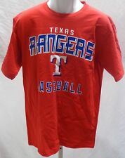 Texas Rangers Baseball Adult Texas Rangers Logo Short Sleeve T-Shirt Red