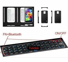 For Samsung Galaxy S5 i9600 Magnetic Sliding Bluetooth Keyboard Hard Case Cover