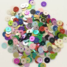 6mm New Round Flat Cup Loose Sequins Paillette Sewing Craft Fabric Bridal 900pcs