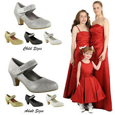 New Women Matching Adult and Child Wedding Bridesmaid Bridal Shoes