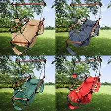 Outdoor Indoor Hammock Hanging Chair Air Deluxe Sky Swing Chair Solid Wood 250lb