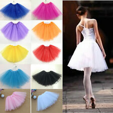 3 Layer Organza Womens Girls Pettiskirt Adult Ballet Skirt Dance Party 11 color