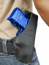 New Barsony Black Leather Pancake Gun Holster for Smith&Wesson Compact 9mm 40 45