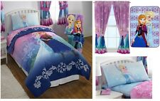 KIDS GIRLS DISNEY FROZEN ANNA AND ELSA BED IN A BAG / COMFORTER SET