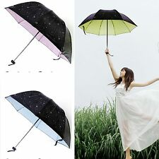 Beautiful Fashion Super Anti-UV Parasol Sun/Rain Folding Umbrella Medium