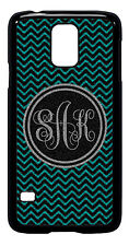 Personalized Monogram Chevron Turquoise Samsung Galaxy S3 S4 S5 Note 2 3 M250
