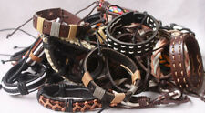1pcs Cuff leather bracelet wholesale Lots Men Women Leather Wristband Free A001
