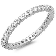 925 Sterling Silver Eternity Band Wedding ring sizes 5, 6, 7, 8, 9 Anniversary