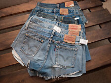 LEVIS VINTAGE WOMENS HIGH WAISTED STONE WASH DENIM SHORTS SIZE 6 8 10 12 14 16