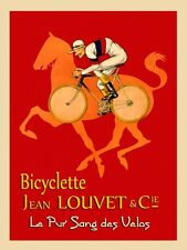 Bicyclette Jean Louvet Bicycle Horse Race Sport Vintage Poster Repro FREE S/H