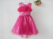 Girls Party Bridesmaid Dress Birthday Party Wedding Princess Prom Special Formal