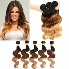 """US hot 1/3Bundles Ombre Human Hair Extension 12""""-22"""",1b/33/27#,Body Wave Hot"""