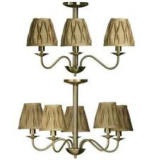 Ceiling Light Chandelier Home With 3 & 5 Arm With Gold Fabric Shade By Premier