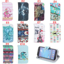 Deluxe E Owls Tribal Tower Wallet Leather Flip Case For Samsung Galaxy S4 i9500