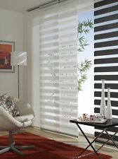 Panel Curtains Night White & Gray//Height Shortened/With Running Carriage