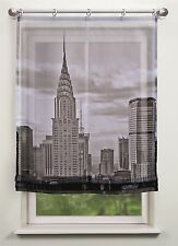 Roller Blinds Clear Digital Print New York Black White 3 Opt. Widths Available