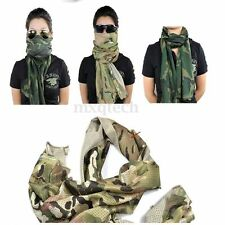 Multi Tactical Camouflage Fish Net Mesh Army Scarf Veil Sniper Cover Neckerchief