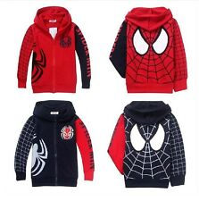 Free Shipping Spiderman coats new 2014 Children Coat boys hoodie jackets Kid 2-7