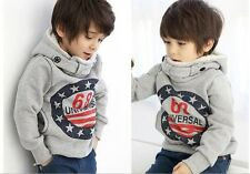 Free Shipping New 2014 Hot Sale Autumn Winter Thicken Hooded Outerwear Boys Kids