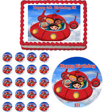 LITTLE EINSTEINS ROCKET Edible Cake Topper Cupcake Image Decoration Birthday