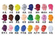 New Pure Candy Winter Winkle Women's Girl's Wrap Soft Long  Scarf 24 colors