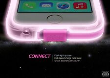 Call LED Flashing Lights Up Back Case Cover With USB Charge Cable Fr iphone 5 5s