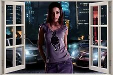 Huge 3D Window Need for Speed Carbon Girl View Wall Stickers Film Decal Mural