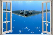 Huge 3D Window B 2 Spirit Stealth Bomber View Wall Stickers Film Decal Mural