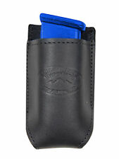 NEW Barsony Black Leather Single Magazine Pouch for Taurus Compact 9mm 40 45
